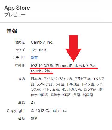 App Store Camblyアプリ iPadの互換性